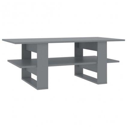 Konferenční stolek - šedý - dřevotříska   110x55x42 cm