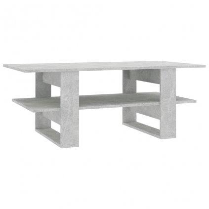 Konferenční stolek -dřevotříska - betonově šedý | 110x55x42 cm