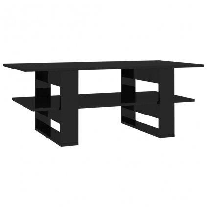 Konferenční stolek černý vysoký lesk - dřevotříska   110x55x42 cm