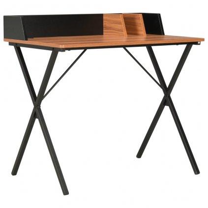 Psací stůl Mendel - černý a hnědý | 80x50x84 cm