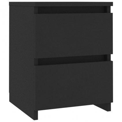 Noční stolek Como - černý   30x30x40 cm