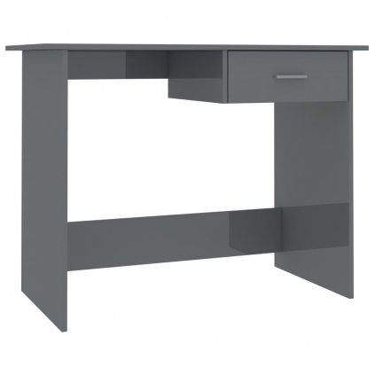 Psací stůl Rouh - šedý s vysokým leskem | 100x50x76 cm