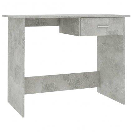 Psací stůl Rouh - betonově šedý | 100x50x76 cm