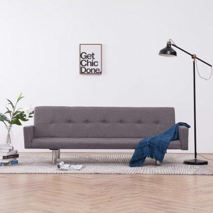 Rozkládací pohovka s područkami Lacona - polyester | taupe