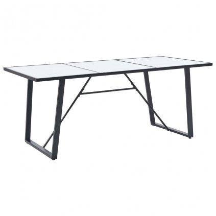 Jídelní stůl Grumma - bílý - tvrzené sklo | 180x90x75 cm