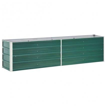 Zahradní truhlík Logan - pozinkovaná ocel   240 x 40 x 45 cm   zelený