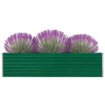 Zahradní truhlík Logan - pozinkovaná ocel | 320 x 40 x 77 cm | zelený