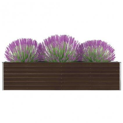 Zahradní truhlík Logan - pozinkovaná ocel | 320 x 40 x 77 cm | hnědý