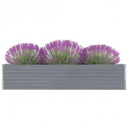 Zahradní truhlík Logan - pozinkovaná ocel | 320 x 80 x 45 cm | šedý
