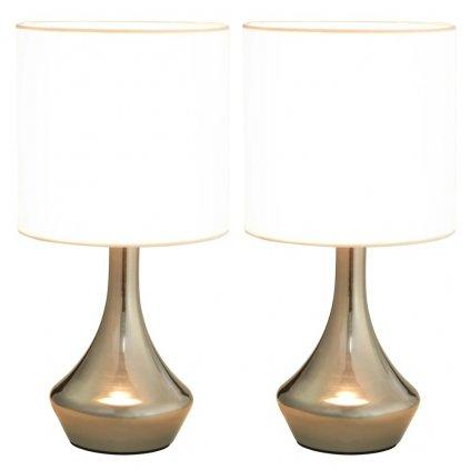 Stolní lampy Asuria - 2 ks - bílé | E14