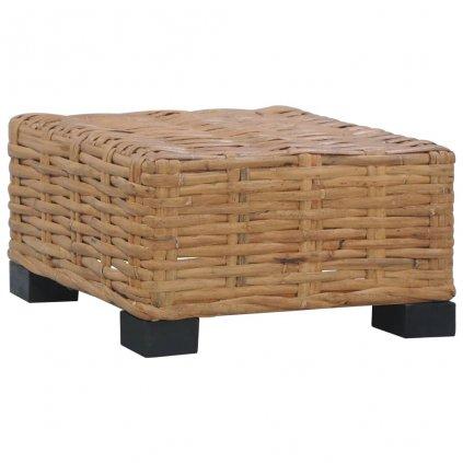 Konferenční stolek Wesco - 47 x 47 x 28 cm | přírodní ratan