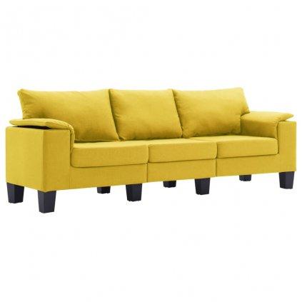 Pohovka Arbela - 3místná - textil | žlutá