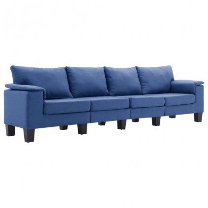 Pohovka Arbela - 4místná - textil | modrá