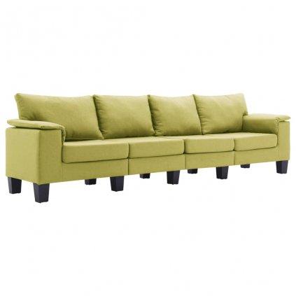 Pohovka Arbela - 4místná - textil | zelená