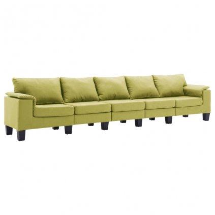 Pohovka Arbela - 5místná - textil | zelená