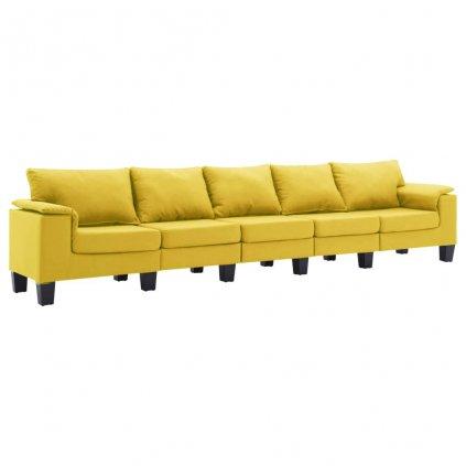 Pohovka Arbela - 5místná - textil | žlutá