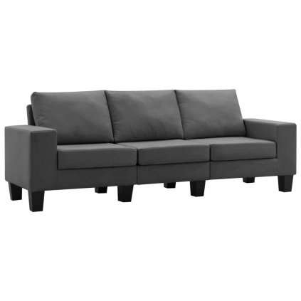Pohovka Kerens - 3místná - textil | tmavě šedá