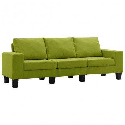 Pohovka Kerens - 3místná - textil | zelená