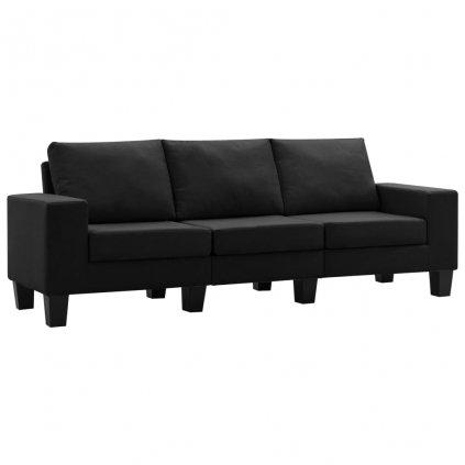 Pohovka Kerens - 3místná - textil | černá