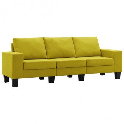 Pohovka Kerens - 3místná - textil | žlutá