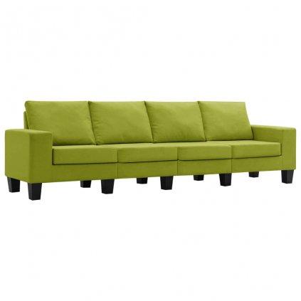 Pohovka Kerens - 4místná - textil | zelená