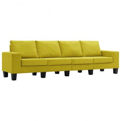 Pohovka Kerens - 4místná - textil | žlutá