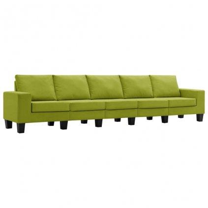 Pohovka Kerens - 5místná - textil | zelená
