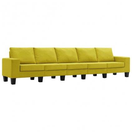 Pohovka Kerens - 5místná - textil | žlutá