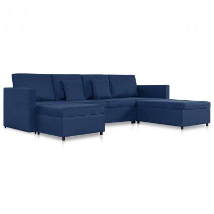 Rozkládací pohovka Beverly - 4místná - textil   modrá