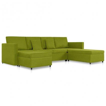 Rozkládací pohovka Beverly - 4místná - textil | zelená