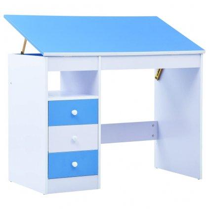 Dětský kreslicí a psací stůl - náklopný | modrobílý