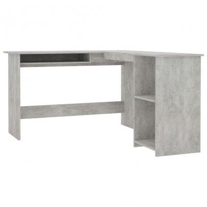 Rohový psací stůl Baldivis - dřevotříska - betonově šedý | 120x140x75 cm