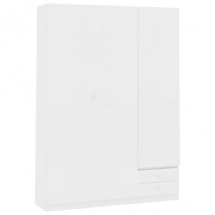Dveřová šatní skříň Berocca - bílá | 120x50x180 cm