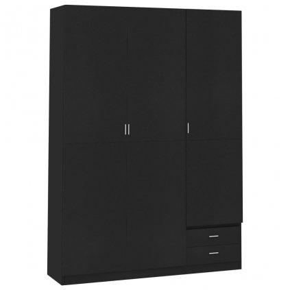 Dveřová šatní skříň Berocca - černá | 120x50x180 cm