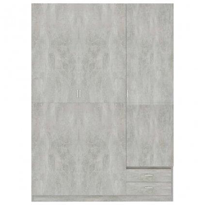Dveřová šatní skříň Berocca - betonově šedá | 120x50x180 cm