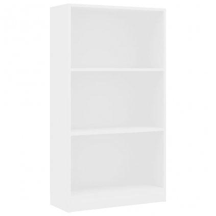3-patrová knihovna Anabel - bílá   60x24x108 cm