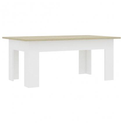Konferenční stolek Bonds - bílý a dub sonoma | 100x60x42 cm