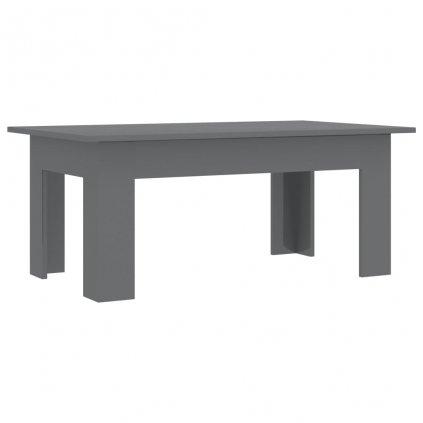 Konferenční stolek Bonds - šedý vysoký lesk | 100x60x42 cm