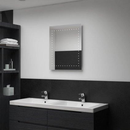 Koupelnové nástěnné zrcadlo (tečky) s LED osvětlením | 50x60 cm