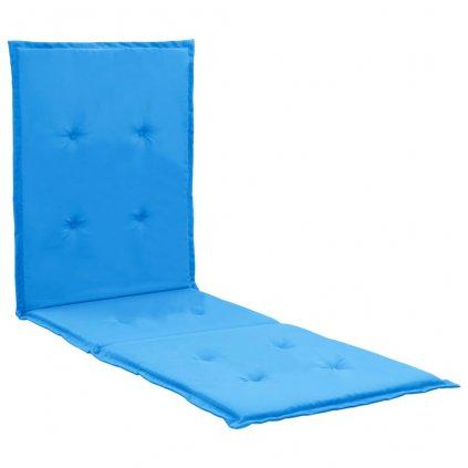 Poduška na lehátko - modrá   180x55x3 cm