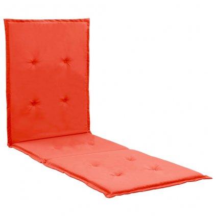 Poduška na lehátko - červená | 180x55x3 cm