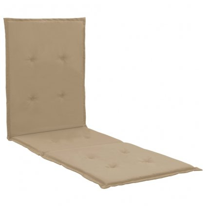 Poduška na lehátko - béžová | 180x55x3 cm