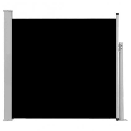Zatahovací boční markýza/zástěna Adams na terasu - černá   170x300 cm