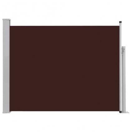Zatahovací boční markýza/zástěna Adams na terasu - hnědá   170x500 cm