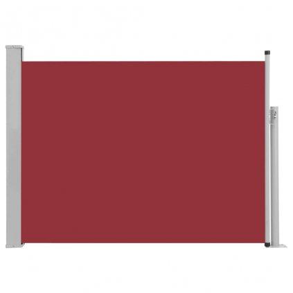 Zatahovací boční markýza/zástěna Adams na terasu - červená   100x500 cm