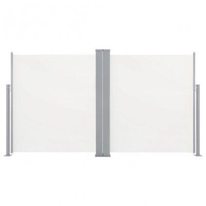 Oboustranná zatahovací boční markýza Ash - krémová | 170x600 cm