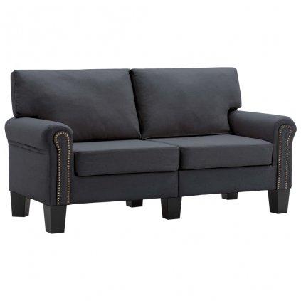 Pohovka Sapello - 2místná - textil | tmavě šedá