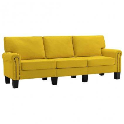 Pohovka Sapello - 3místná - textil | žlutá