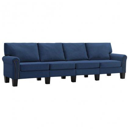 Pohovka Sapello - 4místná - textil   modrá