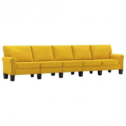 Pohovka Sapello - 5místná - textil   žlutá